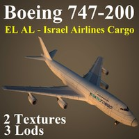 3d boeing 747-200 ely model