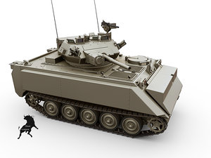 3d mrv m-113 tank model