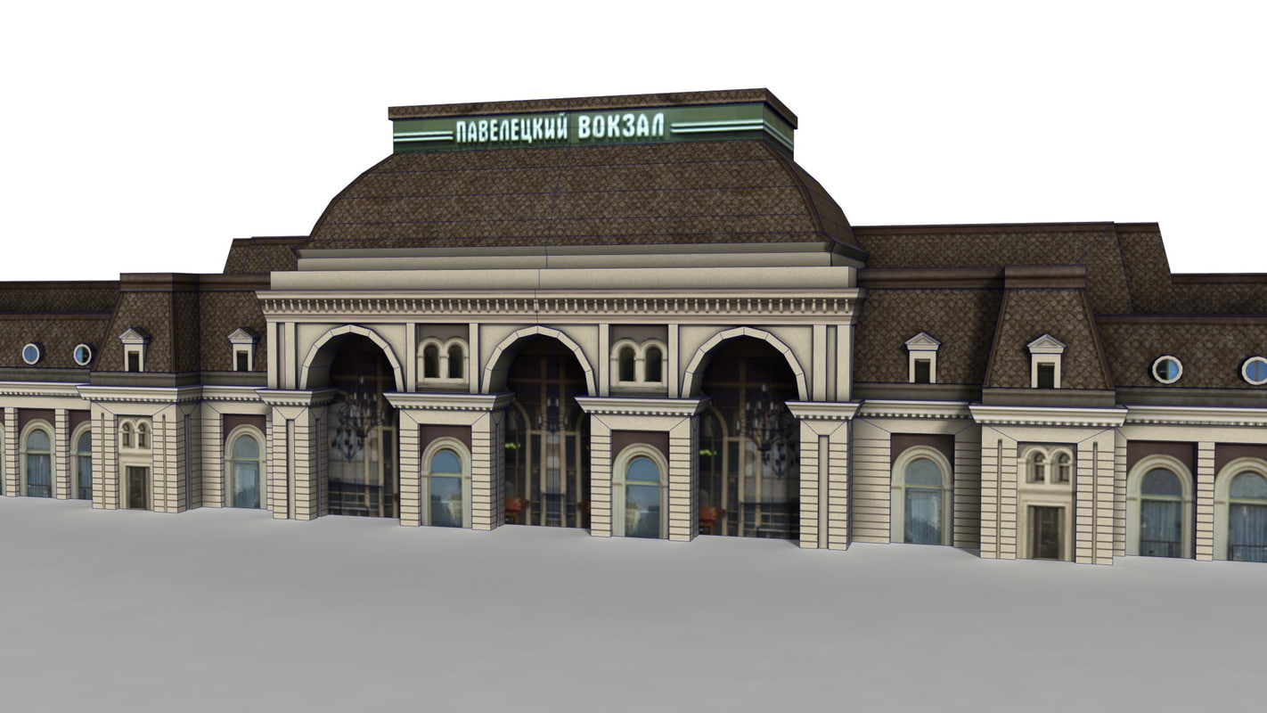 train station moscow ready 3d fbx