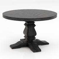 3d model restoration hardware pedestal