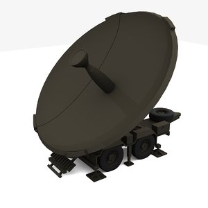 satellite dish 3d obj