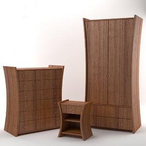 3d embrace furniture nut model