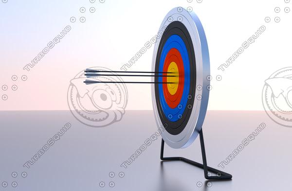 obj archery target arrows