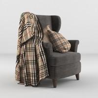 fbx armchair blanket