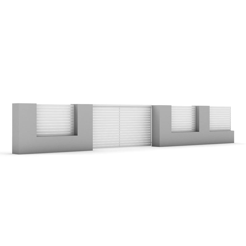 concrete fence gate model