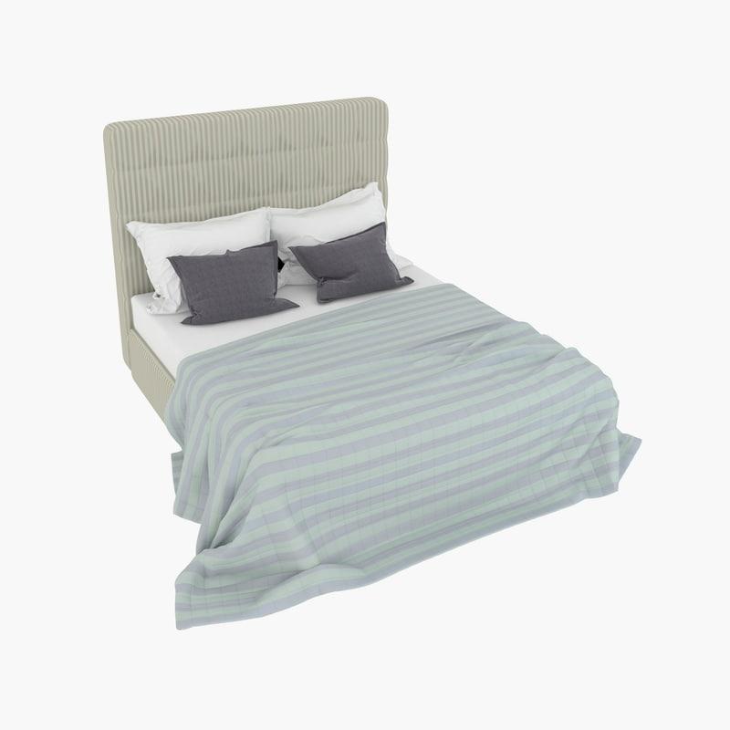 cavio fiesole bed interior 3d max