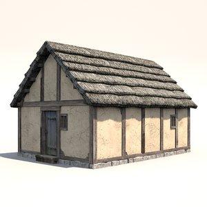 medieval dwelling 3d lwo