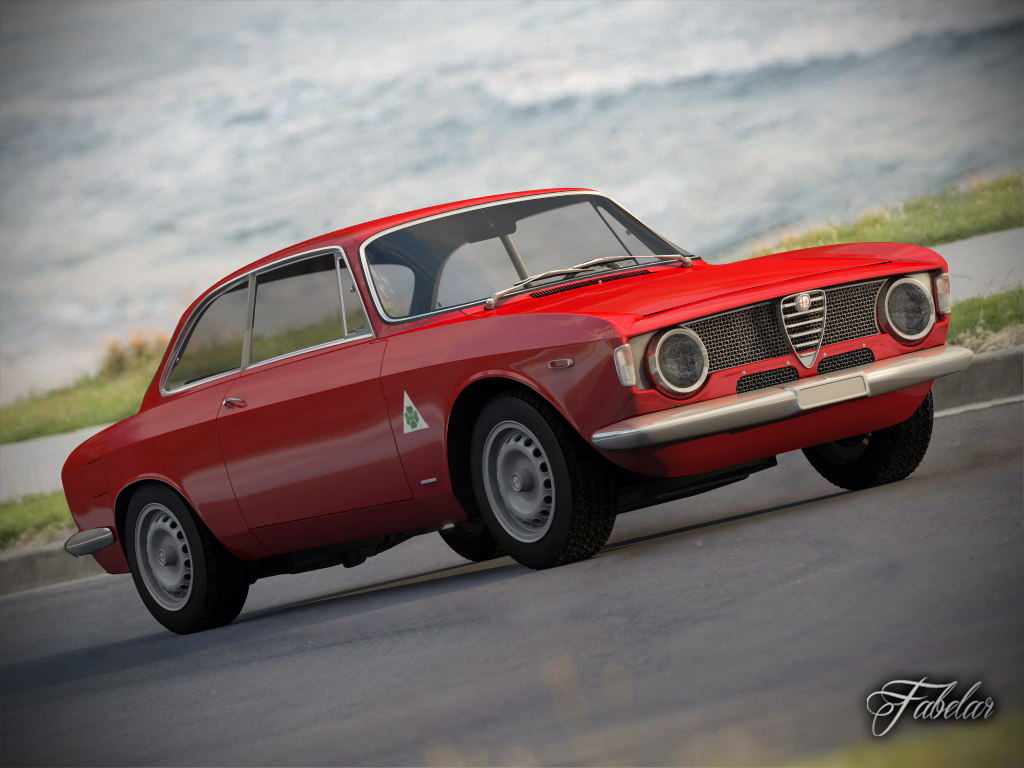 alfa romeo giulia sprint 3d model
