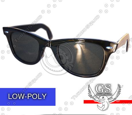 3d glasses fashion wayfarer model