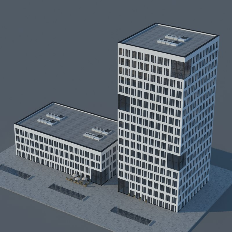 condo building realistic 3d max
