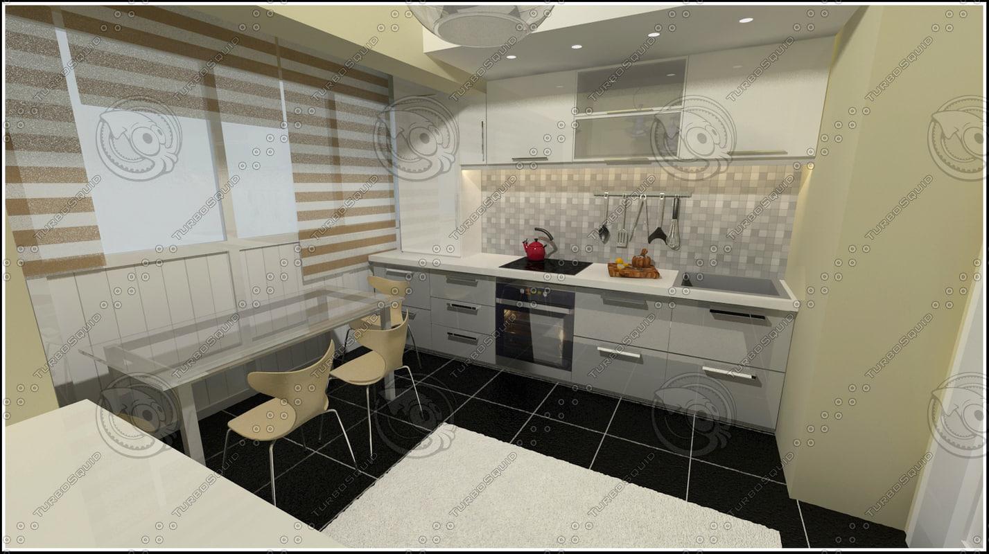 kitchen designed 3d model