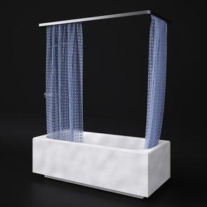 bath shower 3d model