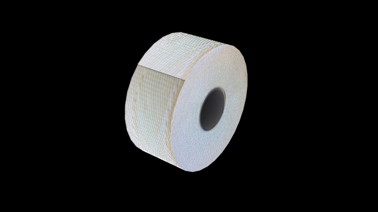 3ds max toilet roll