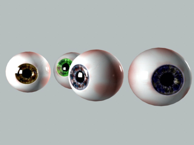 realistic human eyeball characters ma