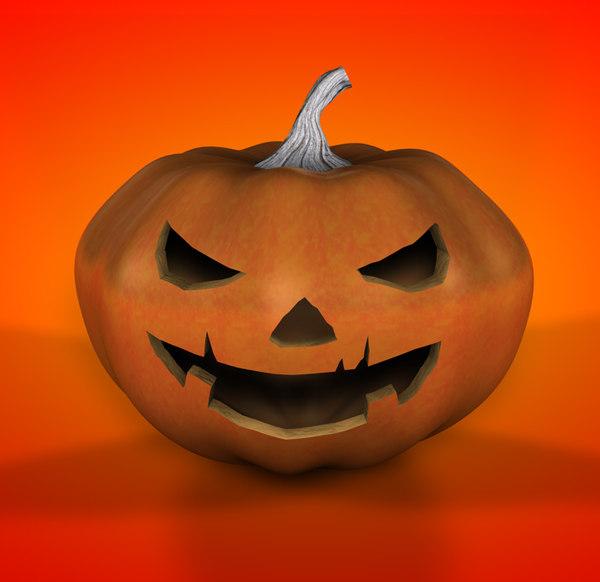 pumpkin lighting c4d