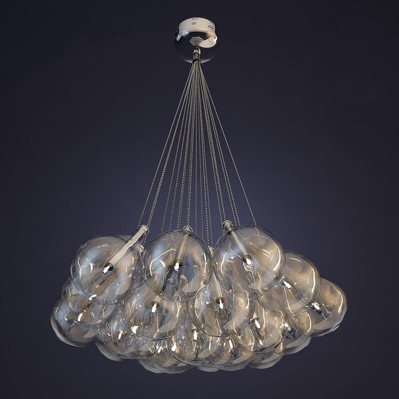 3d model lamp alma light drop