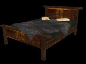 free bed dark creepy 3d model