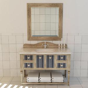 bathroom cabinet 3d max