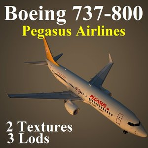 3d model boeing 737-800 pgt