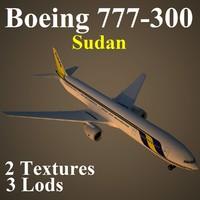 3d model boeing 777-300 sud
