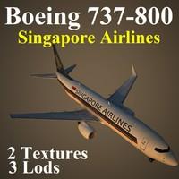 boeing 737-800 sia 3d model