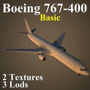 3d model boeing basic