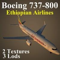 boeing 737-800 eth 3d max