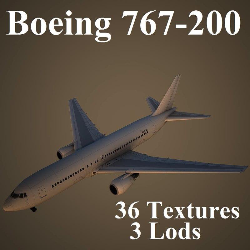 boeing 767-200 3d model