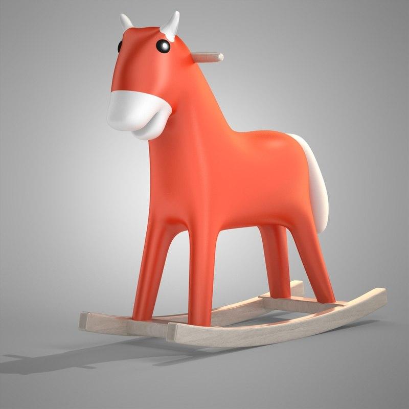 3d horse rocking model