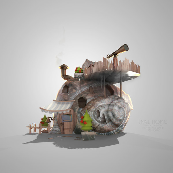 home toon cartoon 3d model
