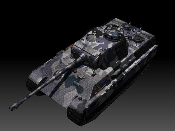 panther tank 3d 3ds
