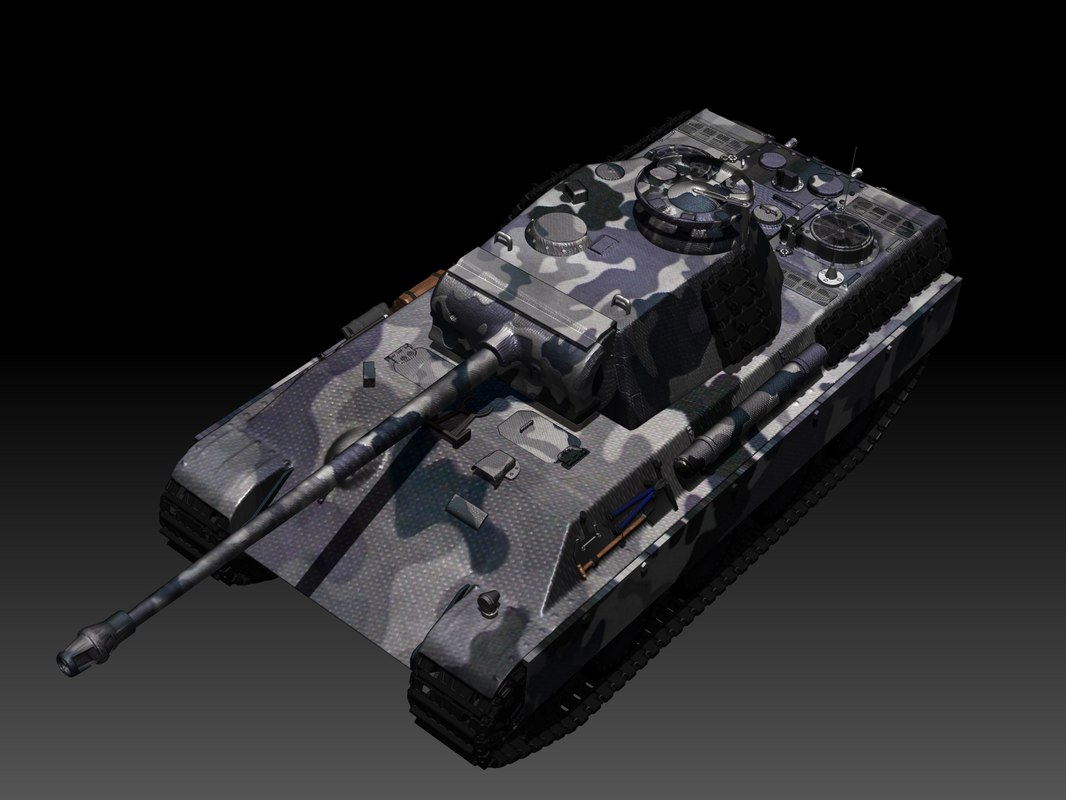 panther tank 3d 3ds