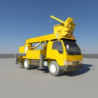 3ds max bucket arm car