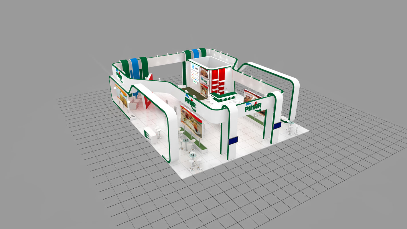 3d model pinar exhibition design