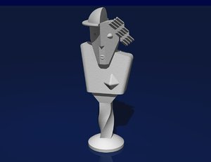 free statue cubist 3d model