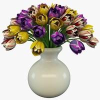 3d model tulip vase