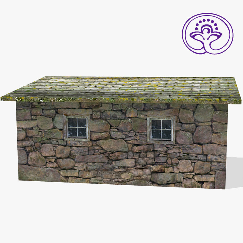 stone shed 3d model
