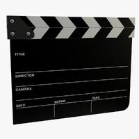 3d film clapper