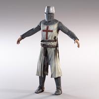 Knight templar lowpoly