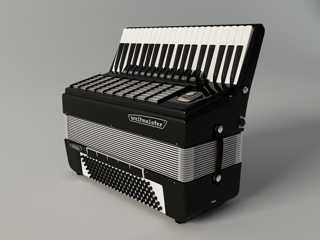 accordion weltmeister stella 3d model