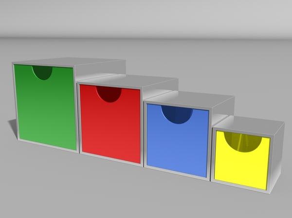storage boxes 3d model