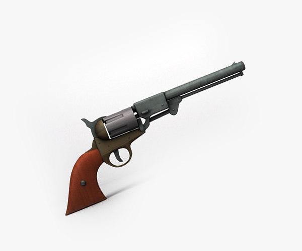 free c4d model confederate pistol revolver