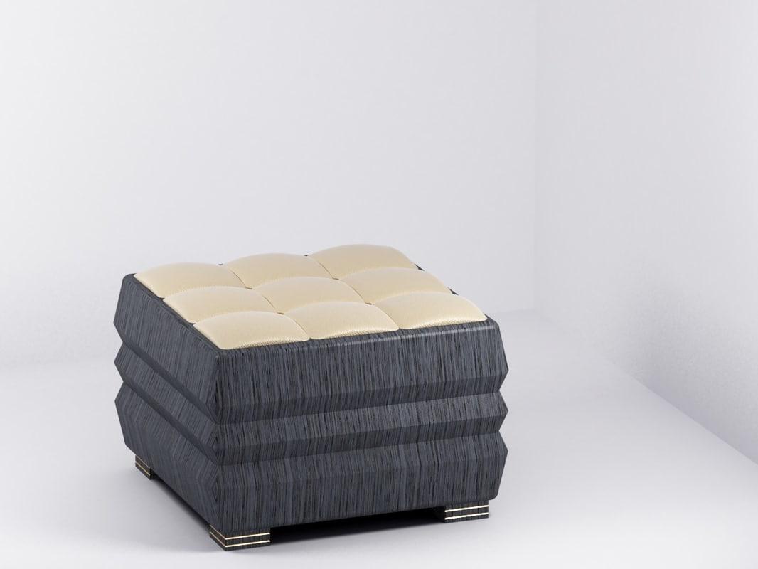 soft chair 3d max