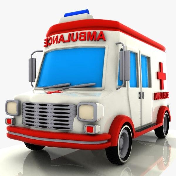 toon ambulance 3ds
