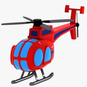 cartoon helicopter toon 3ds