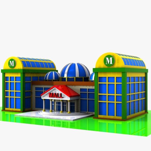 directx cartoon shopping mall