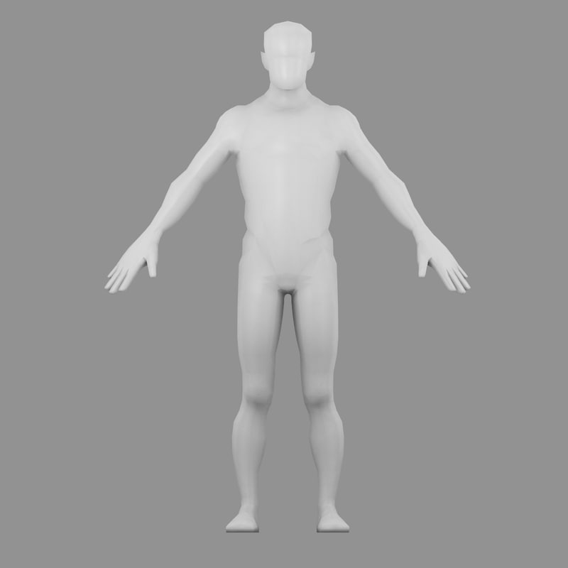 3ds max male base mesh