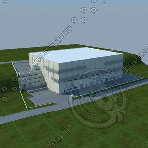 3d model of factory building