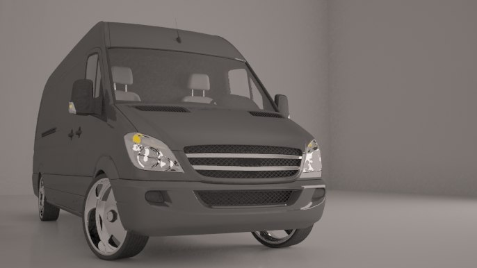 copy mercedes sprinter 3d max
