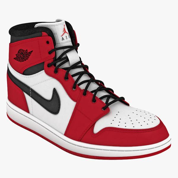 3d model shoes air jordans 1